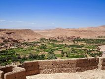 View from Ait Benhaddou fortress in Morocco Stock Photos