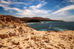 View of Ajuy coast in Fuerteventura, Canary Islands, Spain Stock Photos