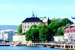View on Akershus Fortress Oslo Norway Royalty Free Stock Photo