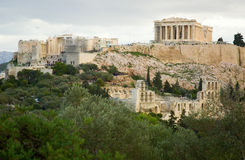 View of the Akropolis in Athens Royalty Free Stock Image