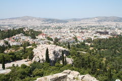 View from Akropolis, Greece Stock Photo