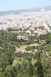 View from Akropolis, Greece Stock Photography