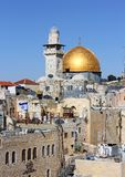 View of the Al Aqsa Mosque. From the Jewish Quarter in Jerusalem Royalty Free Stock Photo