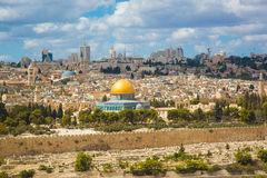 View of the Al Aqsa Mosque - Golden Jerusalem Royalty Free Stock Photography