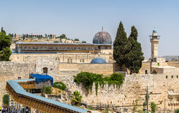 View of the Al-Aqsa Mosque in Jerusalem Royalty Free Stock Photography
