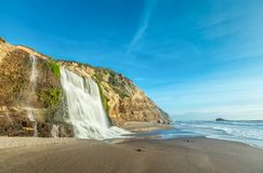 Alamere Falls, Marin County. View of Alamere Falls, Point Reyes National Seashore, Marin County Royalty Free Stock Photos