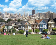 View from Alamo Square San Francisco Stock Photo