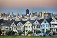 View from Alamo Square at twilight Royalty Free Stock Photography