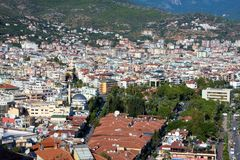 View at the Alanya city Stock Photography