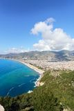 View of the Alanya and Cleopatra beach.Turkey. Stock Photography
