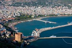 View at the Alanya harbor Royalty Free Stock Image