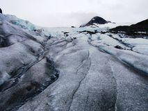 View of Alaska ice sheets and Glaciers Stock Photo