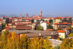 View of Alba in autumn. Stock Photo