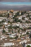 Albaicin, Granada from the Alhambra in the early morning Royalty Free Stock Photo