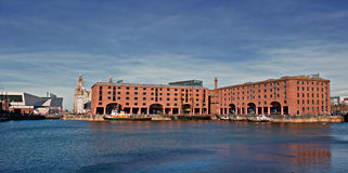 View of Albert Dock, Liverpool, Royalty Free Stock Photography