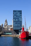 View from Albert Dock in Liverpool Royalty Free Stock Images