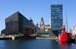 View from Albert Dock in Liverpool Stock Image
