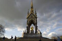 The Albert Memorial Hyde Park London. View of the Albert Memorial Hyde Park London in spring time Stock Image