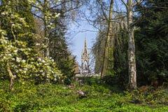 View of Albert Memorial through Kensington Gardens in London Royalty Free Stock Photography