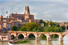 View of the Albi, France Royalty Free Stock Photos