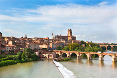 View of the Albi, France Royalty Free Stock Images