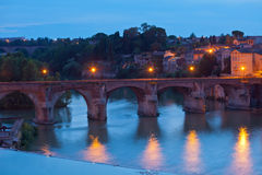 View of the Albi, France at night Stock Photography