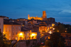 View of the Albi, France at night Stock Photos