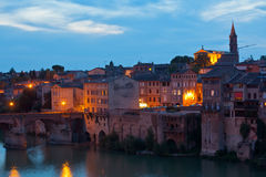 View of the Albi, France at night Stock Image