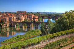 View of Albi - Old Bridge royalty free stock image