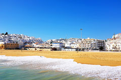 View on Albufeira in the Algarve Portugal Royalty Free Stock Photos
