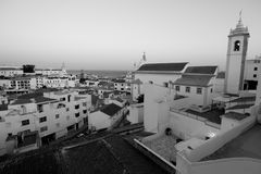 Albufeira. View of Albufeira old town in Portugal royalty free stock image