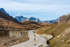 View of the albula pass in grisons, switzerland, europe stock images