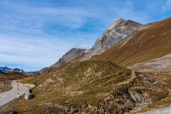 View of the albula pass in grisons, switzerland, europe stock photo