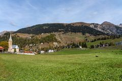 View of the albula pass in grisons, switzerland, europe royalty free stock photos