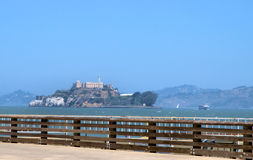 View of Alcatraz Stock Photography
