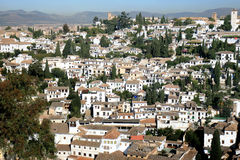 View from Alcazaba of Alhambra, Granada, Spain Stock Photography