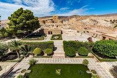 View of the Alcazaba in Almeria (Almeria Castle). On a beautiful day, horizontal, Spain Royalty Free Stock Photography