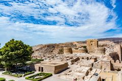 View of the Alcazaba (Almeria Castle), Spain. View of the Alcazaba in Almeria Almeria Castle on a beautiful day, horizontal, Spain Royalty Free Stock Photography