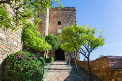 View of Alcazaba of Malaga in Andalusia, Spain. Stock Photo