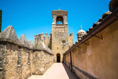 View of Alcazar and Cathedral Mosque of Cordoba, Spain. Stock Image