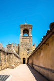 View of Alcazar and Cathedral Mosque of Cordoba, Spain. Royalty Free Stock Image