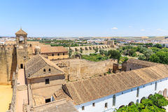 View of Alcazar and Cathedral Mosque of Cordoba Royalty Free Stock Photography