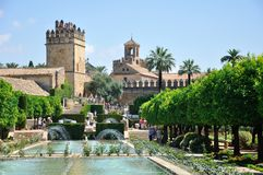 View of Alcazar and Cathedral Mosque of Cordoba Royalty Free Stock Images