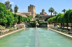 View of Alcazar and Cathedral Mosque of Cordoba Royalty Free Stock Photos