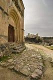 Church and Alcazar. View alcazar of Segovia from the Church of Vera Cruz Royalty Free Stock Image