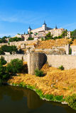 View of Alcazar of Toledo. Castile�La Mancha Stock Photography