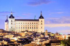 View of the Alcazar in Toledo Stock Photography