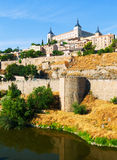 View of Alcazar of Toledo in sunny day Stock Images