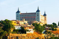 View of Alcazar of Toledo in sunny morning. Stock Photos