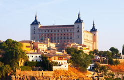 View of Alcazar of Toledo in sunny time Royalty Free Stock Images